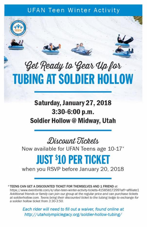 Winter Events: Teen Tubing & Nutrition Therapy Seminar
